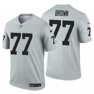 Men's Trent Brown #77 Oakland Raiders Jersey